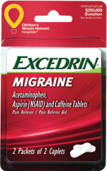 Excedrin Migraine Cap 4ct 2 Doses Blister Card 6pk